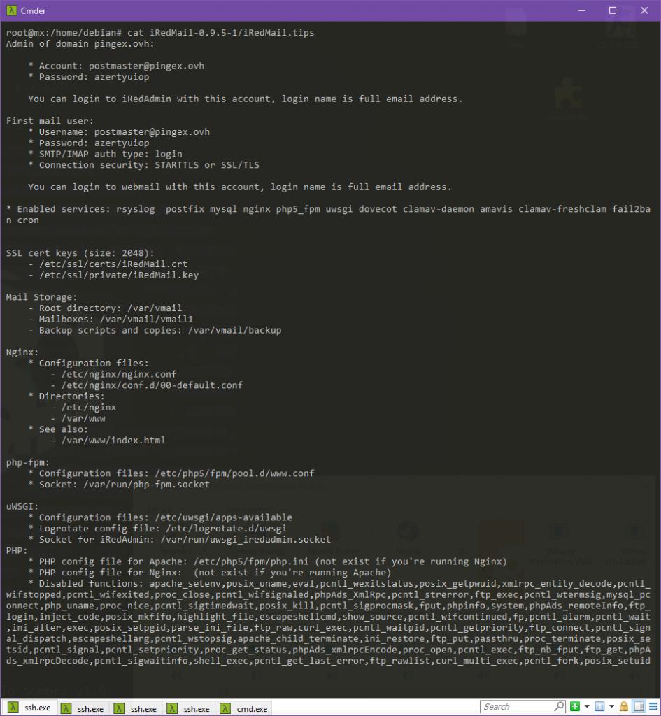 Readme post-installation d'iRedMail