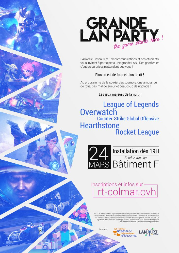 Affiche de la LAN RT Colmar du 24/03