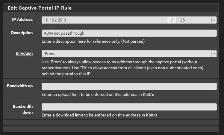 pfSense: Exception IP