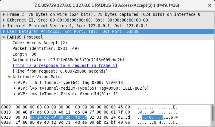 Exemple d'un Access-Accept RADIUS